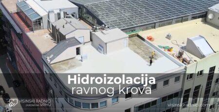 Hidroizolacija ravnog krova tečnom Polyureom | VISINSKI RADNICI DOO